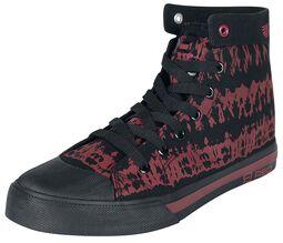 Rot/schwarzer Sneaker im Batik-Look