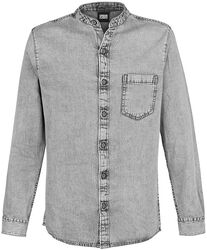 Stand Collar Denim Shirt
