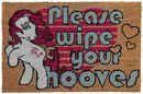 Please wipe your hooves