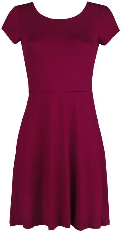 Rotes Kleid mit Rückenausschnitt und dekorativer Schnürung