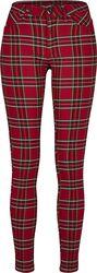 Ladies Skinny Tartan Pants