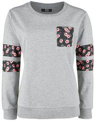 Sweatshirt mit floralen Printdetails