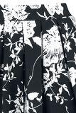 Belsira Ausgestellter Retrorock mit Blumenmuster