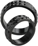 Black Spiked Ring Set