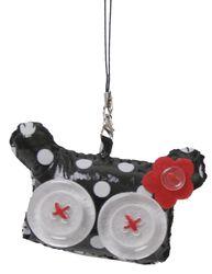 Voodookatzenkopf mit großen Augen