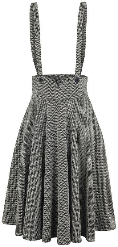 Toyin Overall Herringbone Flared Skirt