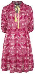 RED X CHIEMSEE - weiß/rotes Batik Kleid