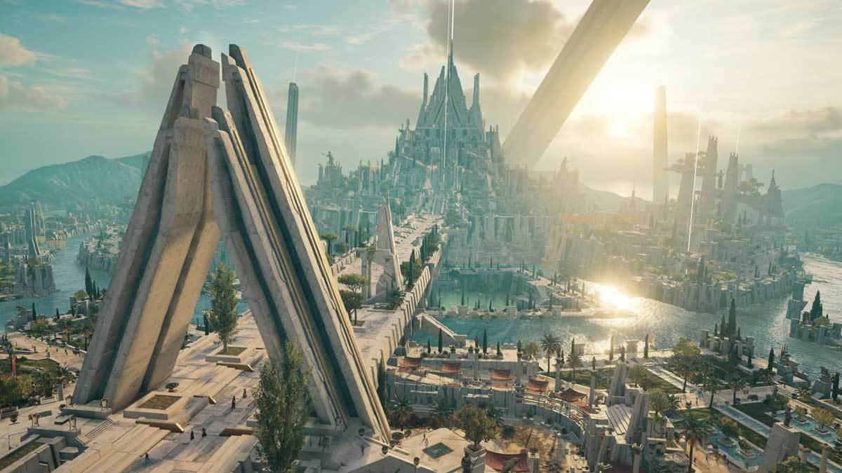 Atlantis erinnert ein wenig an Asgard aus dem MCU.